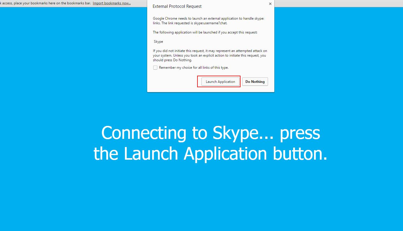 Skype html page