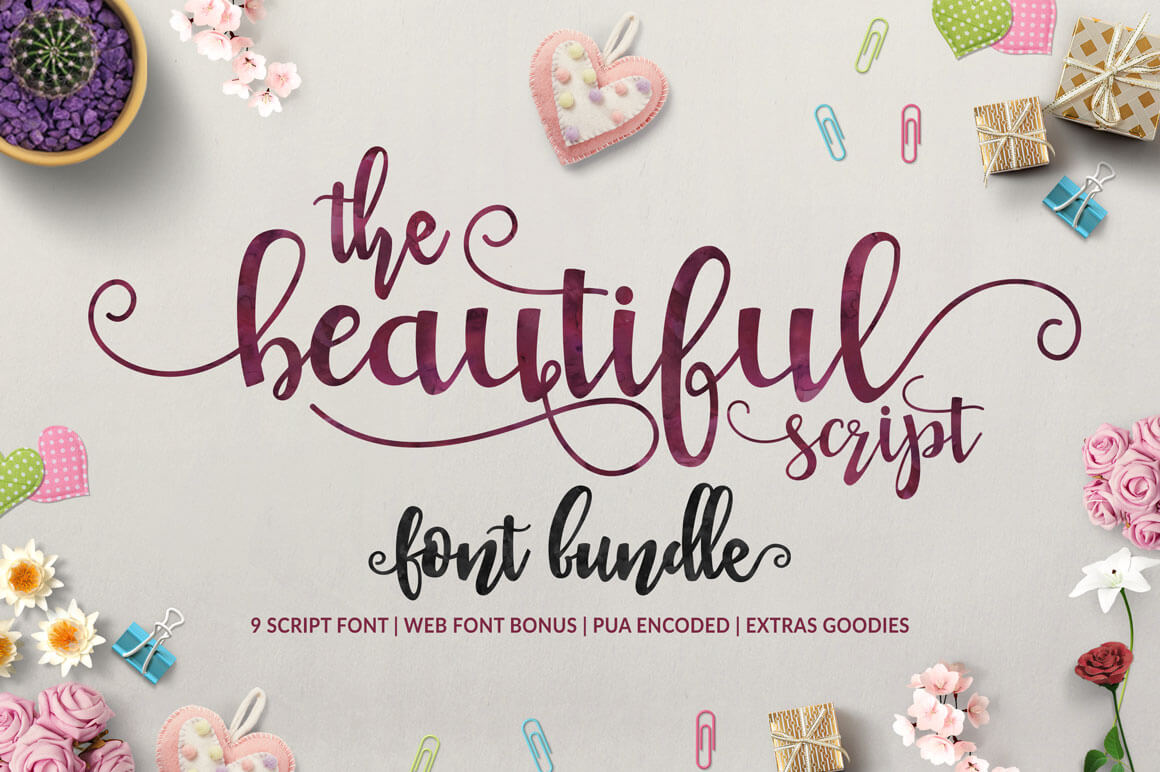 9 Beautiful Handwritten Modern Script Fonts – only $17!