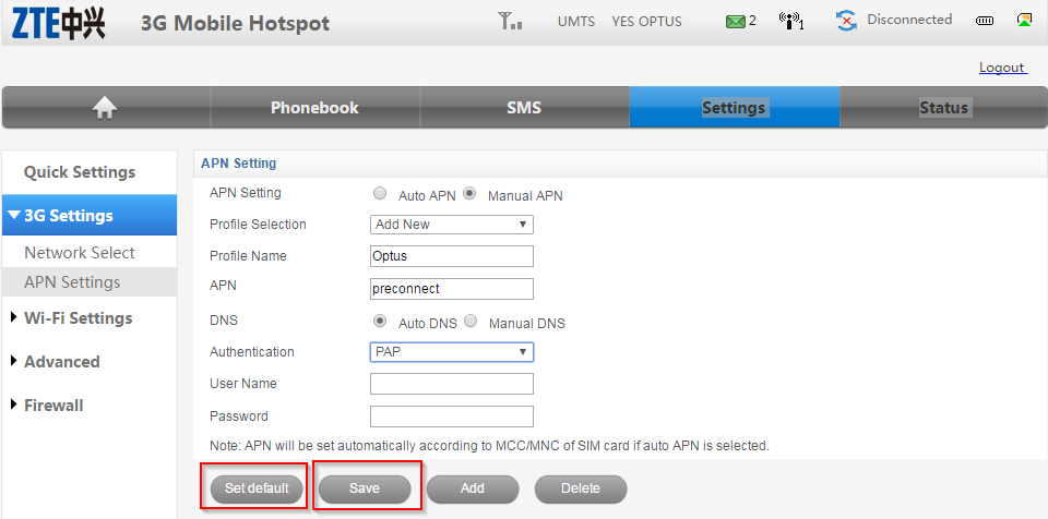 Zte 3g mobile hotspot login password