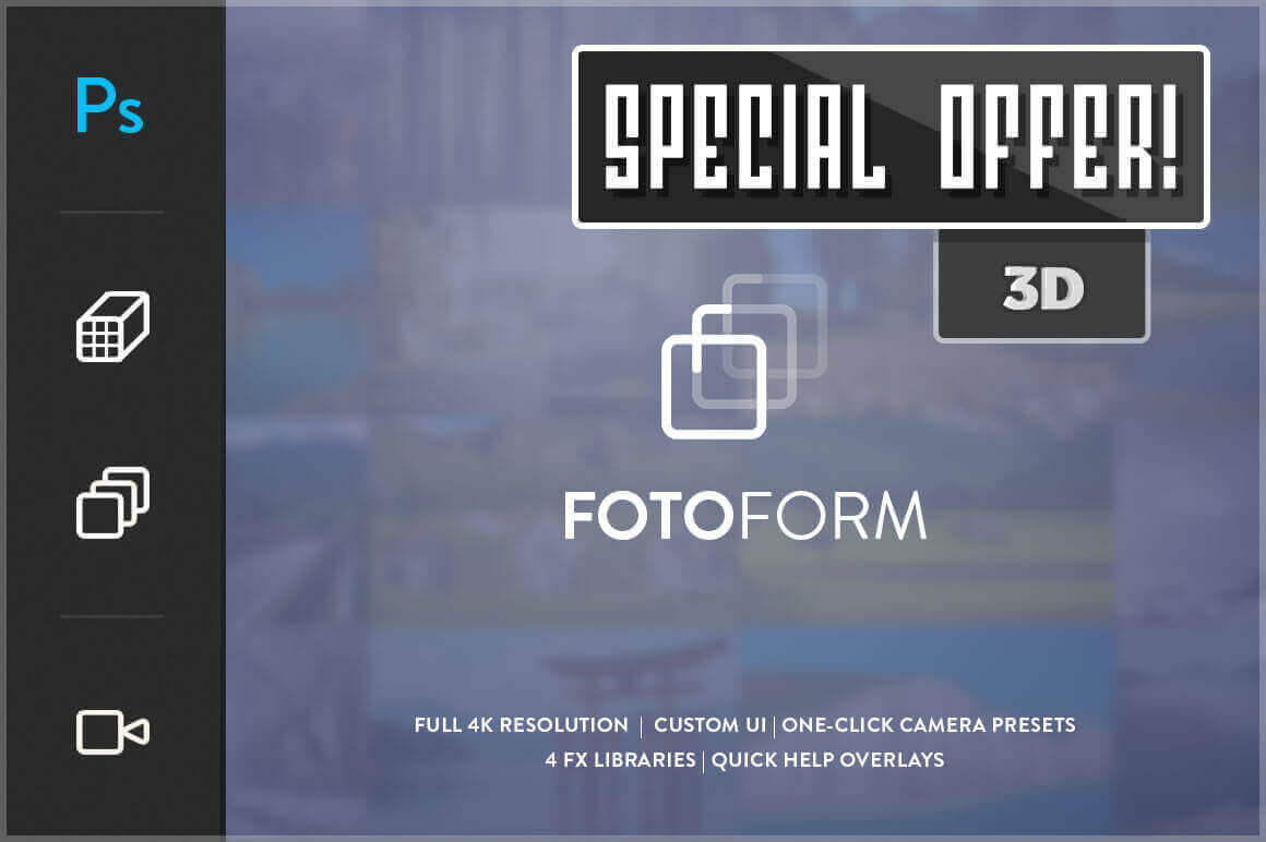 FotoForm – The World's First Geometric 3D Photo Animator – only $17!