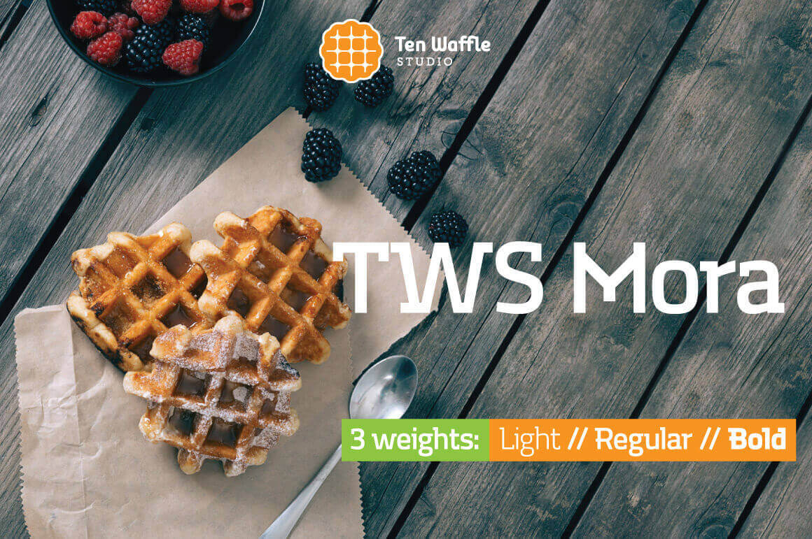 TWS Mora: A Modern Font Family from Ten Waffle Studio – only $9!