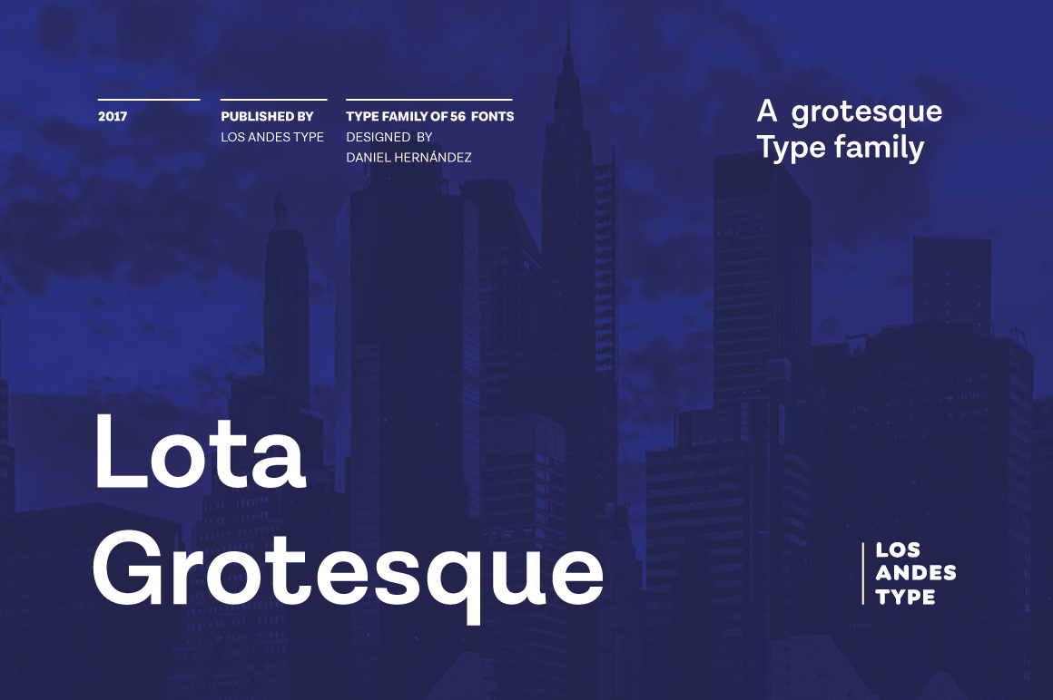 Lota Grotesque Family Includes 7 Weights, 219 Languages – only $19!