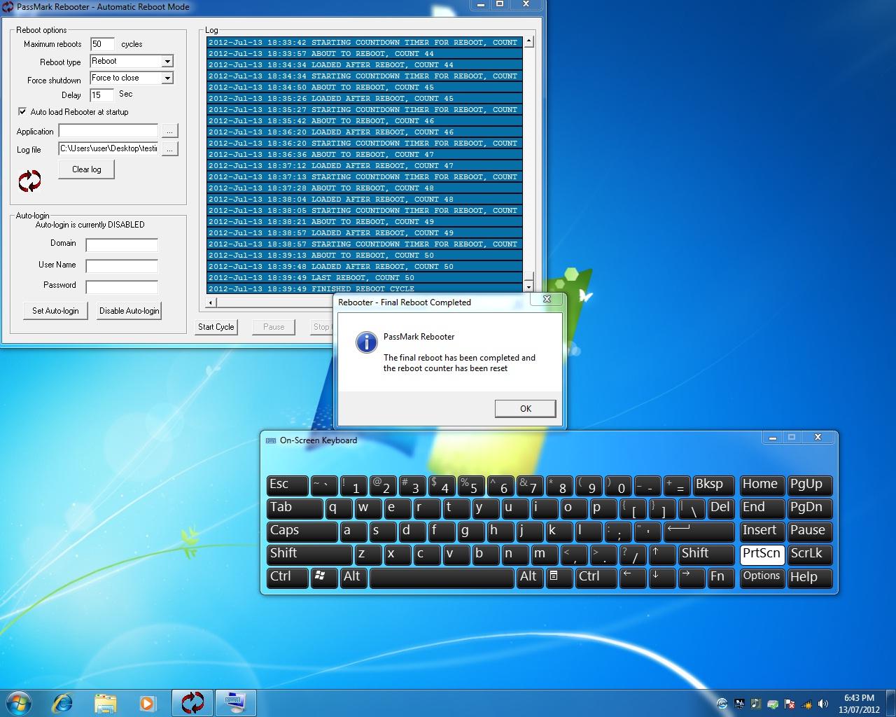 Passmark Rebooter