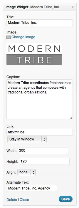 Image Widget for WordPress
