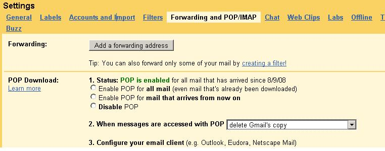Solution: Exporting gmail to pst