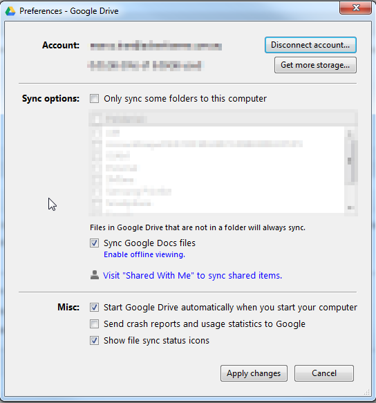 Google Drive for PC can't see shared documents