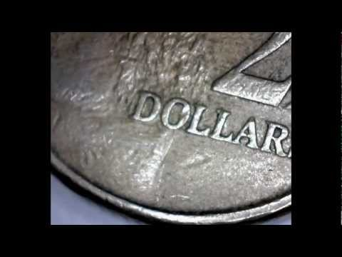 Amazing Magnified Australian 2 Dollar Coin x10 and x230