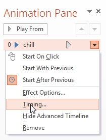 powerpoint 2013 animation pane timing
