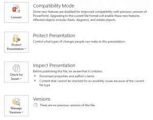 powerpoint 2013 compatibility mode
