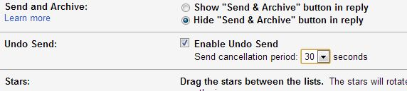How to increase the time for Gmail Undo Send to 30 seconds