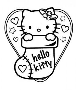 Hello-Kitty-Christmas-Coloring-Page