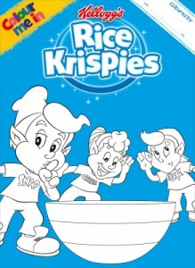 colour me in kelloggs Rice Krispies