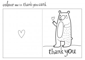 living and loving thank you card