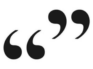 quotation marks
