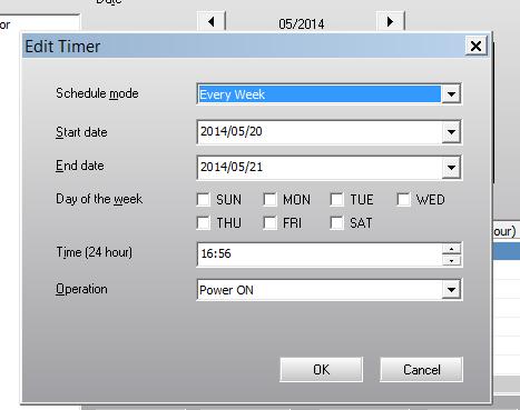 epson easymp monitor timer - schedule