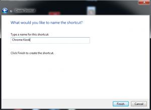 name shortcut chrome kiosk