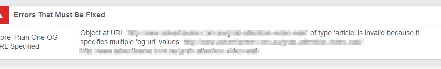 Facebook Debugger result