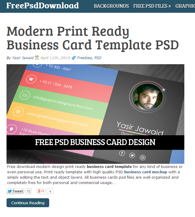 Free PSD templates and plugins