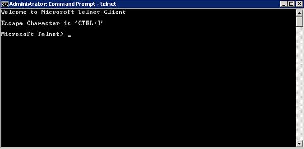 Windows 2008 R2 Telnet