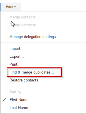 How to merge duplicate information in Google Contacts