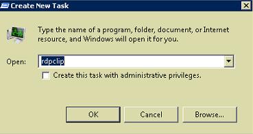 RDPclip executable new task