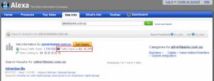 Alexa rankings for one of my websites