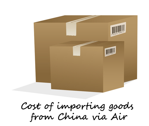 cost of importing goods from china via air