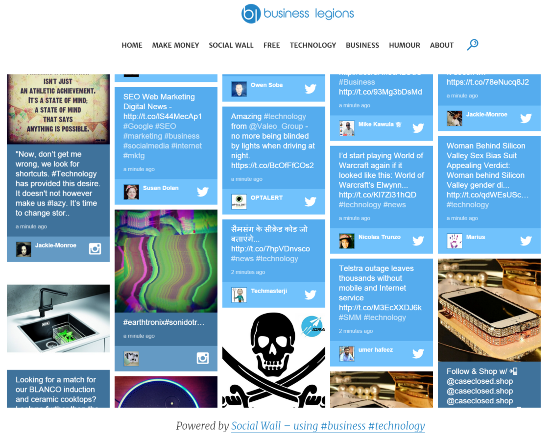 Introducing Social Wall for Business Legions