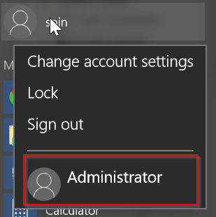 Change to administrator