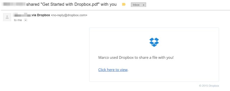 Dropbox Legit Email