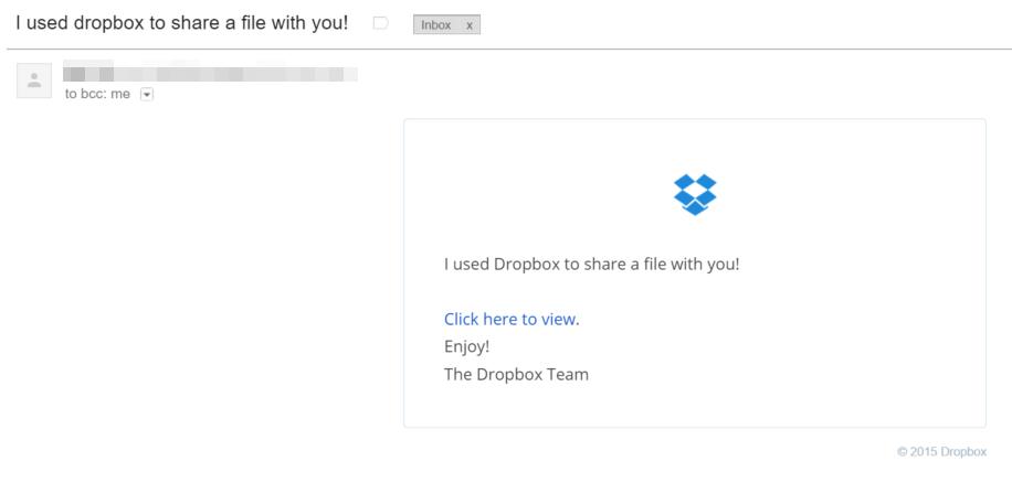 Beware Dropbox Virus