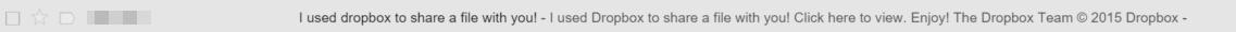 Dropbox Virus Subject