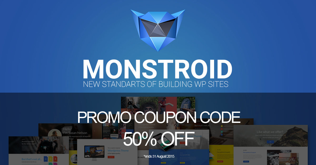 Monstroid Promo Coupon Code 50% Off