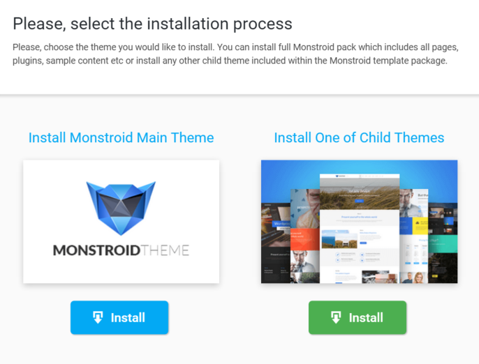 My Healthy App - Monster Wizard Install Monstroid Theme