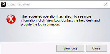 Error Code 1681 and 1602 with installing Citrix Receiver