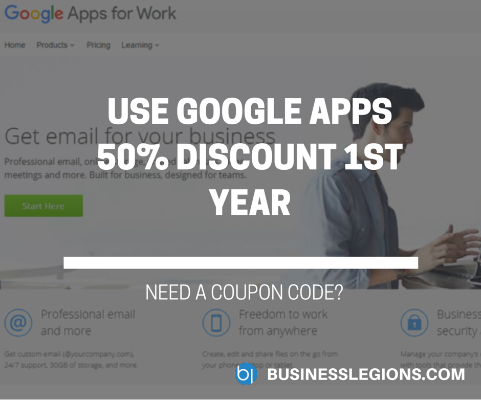 USE GOOGLE APPS 50% DISCOUNT 1ST YEAR