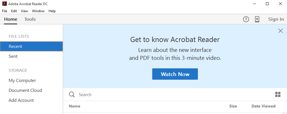 Acrobat reader software