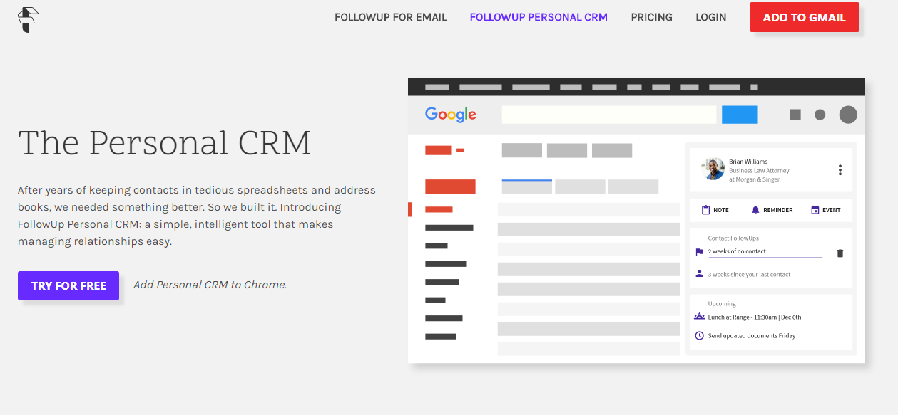 Business Legions - FollowUp Personal CRM