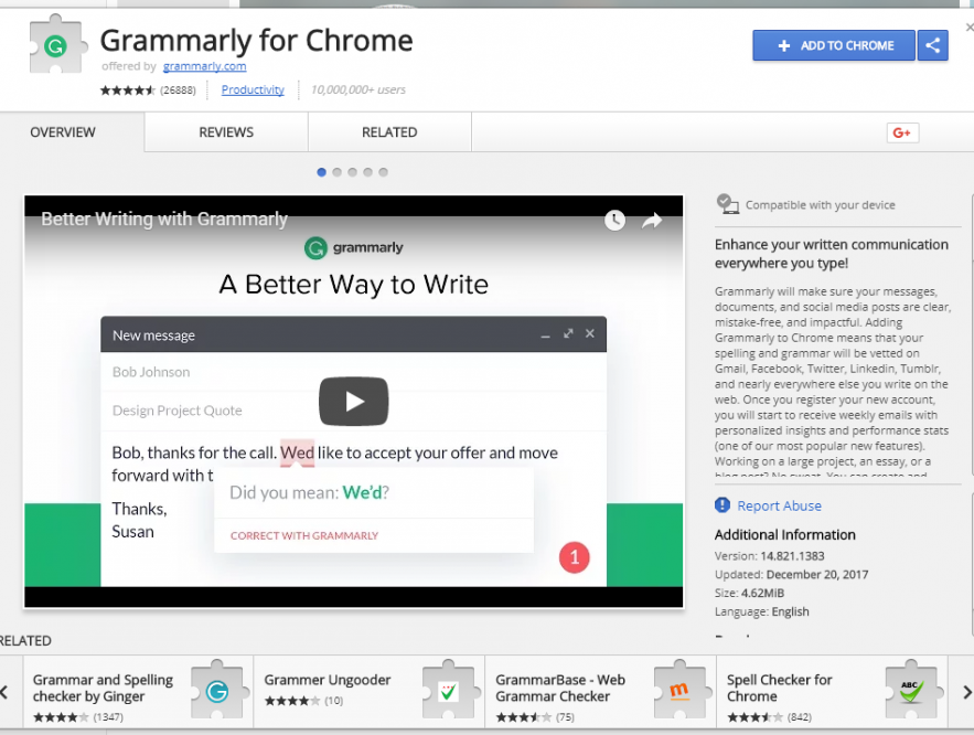 Business Legions -Grammarly for Chrome