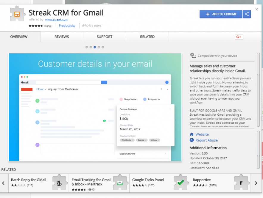 Business Legions - Streak CRM for Gmail