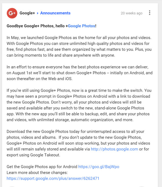 WHERE IS MY GOOGLE+ PHOTOS! -Business Legions Blog