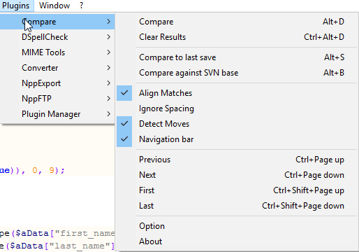 Notepad++ Compare