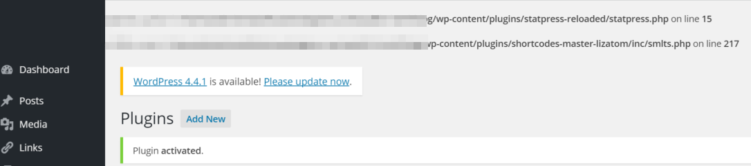 Nextscript SNAP Error Messages