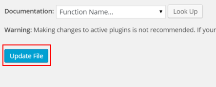 WordPress Nextscript SNAP Error Messages Update Button