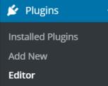 WordPress Nextscript SNAP Plugins Editor