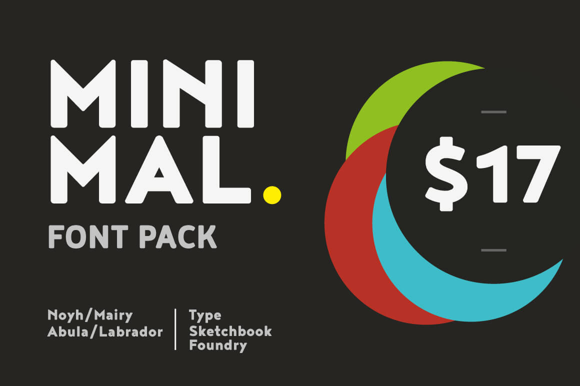4 Minimal Font Families, 150 Unique Fonts from Typesketchbook – only $17!