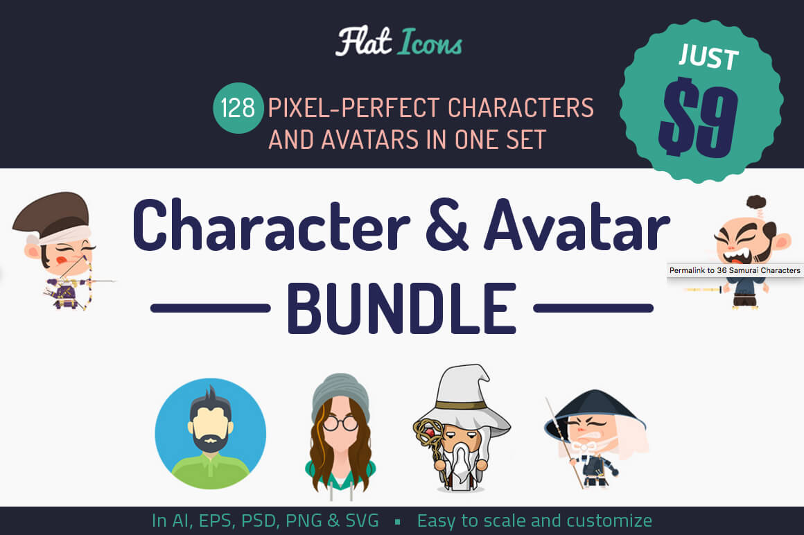Add Serious Fun with 125+ Colorful Characters and Avatars – only $9!