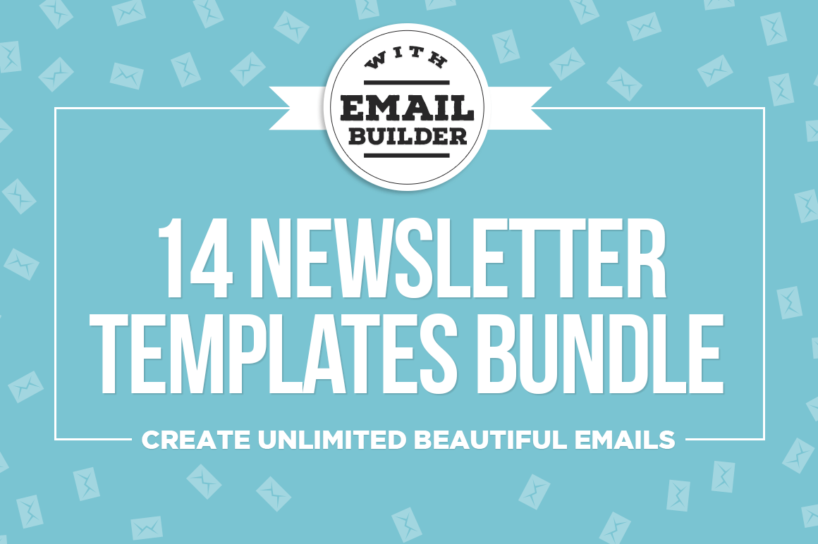 Bundle of 14 Email Newsletter Templates, MailChimp Compatible – only $24!
