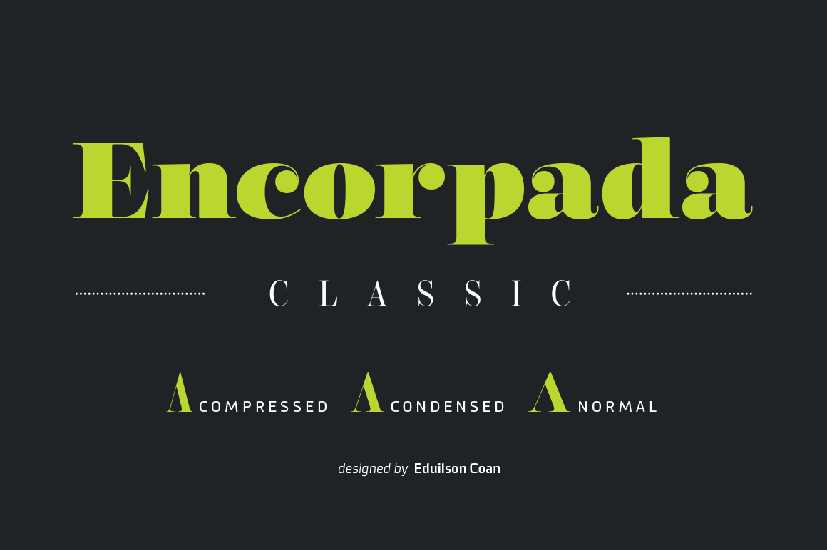 Encorpada: A Classic Collection of 34 Uniquely Elegant Fonts – only $17!