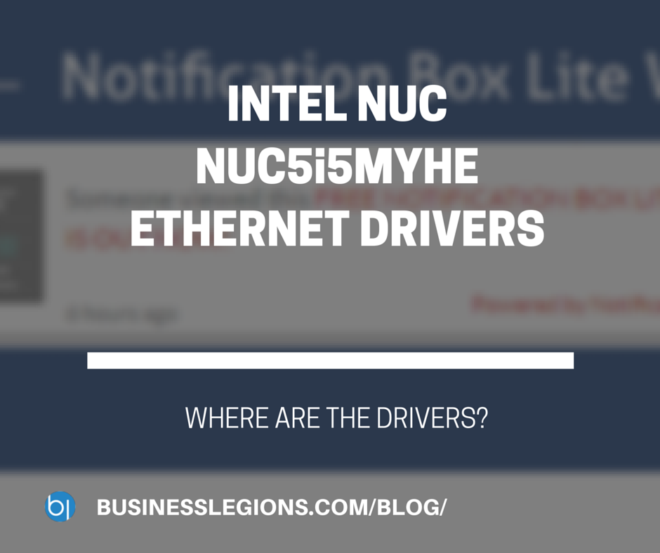 INTEL NUC NUC5i5MYHE ETHERNET DRIVERS